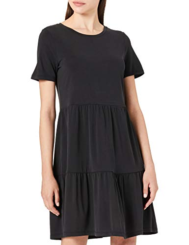 VERO MODA Damen Vmfilli Calia Ss Short Dress Ga Noos Kleid, Black, S
