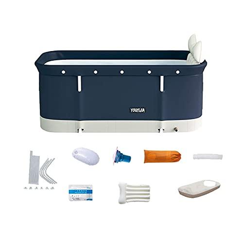 Kit de bañera portátil, bañera de remojo plegable para adultos, bañera de remojamiento, bañera de baño familiar separada Bañera de hidromasaje, ideal para baño de baño caliente 47.2x19.7x21.7inch