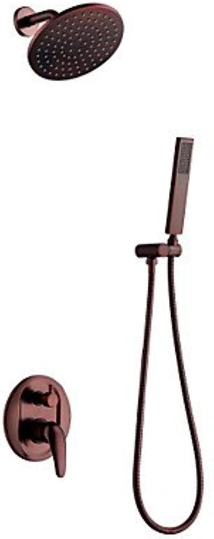 BingHaiY Wandmontage Keramisches Ventil Einhand Drei Lcher for l-riebe Bronze , Duscharmaturen