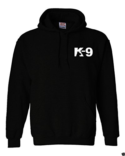 Gs-eagle Men's Classic K-9 Squad Graphic Hoodie Large Black