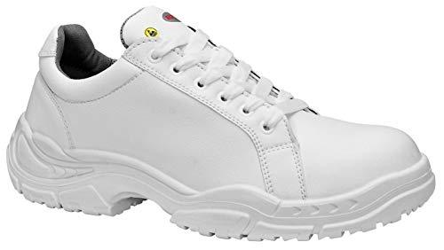 ELTEN White Loop Low ESD S2 - Zapatos de seguridad para hombre, ligeros, color blanco, puntera de acero, talla 36