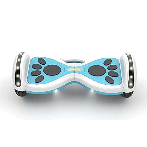 Hoverboard Self Balancing Inteligente Patinete Elétrico Coche Adulto de Dos Ruedas con Luces Bluetooth,Blue