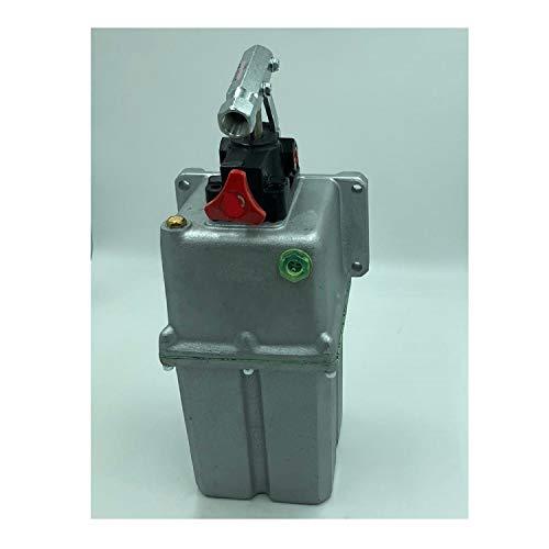 Uzman-Versand 25ccm Hydraulik Handpumpe mit 5 liter Tank + Handhebel, Hydraulikpumpe Hydraulische Hand-hebel-Pumpe Manuell Hydraulikhandpumpe (25ccm Pumpe mit 5 liter Tank)
