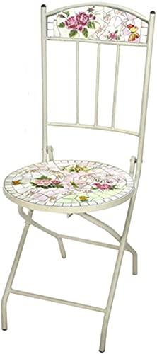 Mesa de picnic al aire libre Mesa auxiliar al aire libre, mesa de patio de mosaico, pequeña mesa final al aire libre para patio jardín balcón junto a la piscina con 2 sillas (Ross) Mesa de fiesta barb