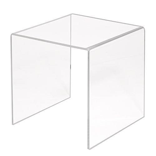 Zeigis U-Ständer/Dekobrücke/Warenpodest 200x200x200mm aus transparentem Acrylglas/PMMA