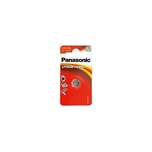 Panasonic CR1216 Pila botón de litio no-recargable, 3V, 25 mAh,...