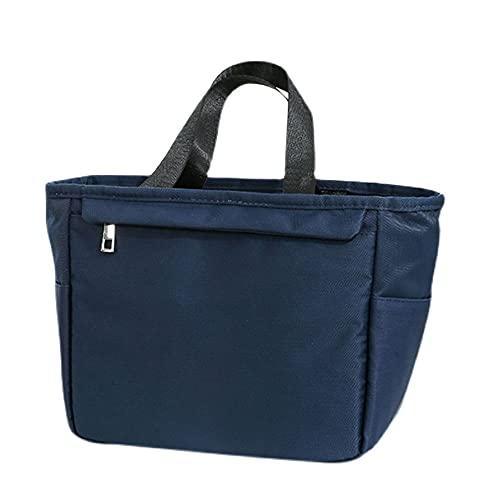 Qeujhkalwcb Bolsa Térmica, Bolso de almuerzo térmico impermeable para mujeres y hombres, bolso de papel de aluminio con cremallera, conveniente para el trabajo escolar Oficina de viaje Picnic, Tamaño: