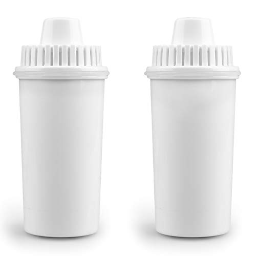 SimPure Water Filter Replacements for Pitchers,Activated Carbon and Resin Filter,2 Pack,Only fit 3.5 L Water Filter Pitcher
