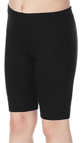 Merry Style Leggins Mallas Pantalones Cortos Ropa Deportiva Niña MS10-132 (Negro, 110 cm)