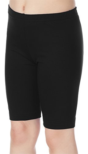Merry Style Leggins Mallas Pantalones Cortos Ropa Deportiva Niña MS10-132 (Negro, 128 cm)