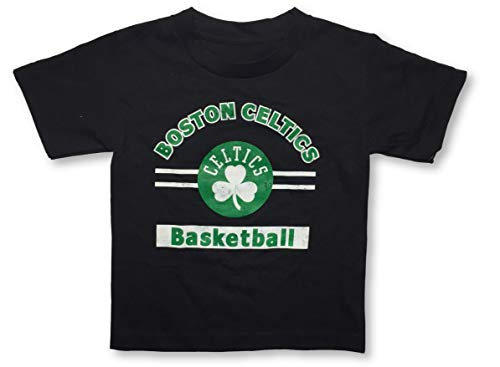 Outerstuff Boston Celtics Basketball Crew Neck Youth Boy's Black T-Shirt (Large 12/14)