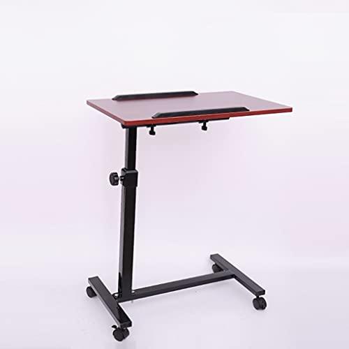 SYN-GUGAI Inicio Oficina Mobile Aptop Escritorio, Mesa de Sobrealdeado con Ruedas, Altura Ajustable, Inclinación Giratoria de La Mesa