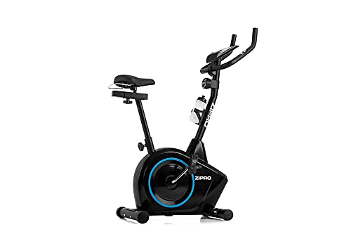 ZIPRO Bicicleta estática para Casa BOOST, entrenador eliptico, LCD Pantalla, sensores de pulso, ajuste de resistencia, 120kg