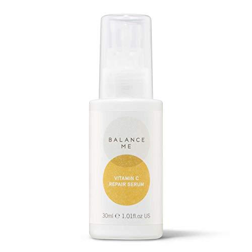 Balance Me Vitamin C Repair Serum – With Hyaluronic Acid - Reduce Age Spots & Hyperpigmentation – Anti-Ageing & HydratingFace Serum– 100% Natural – Vegan & Cruelty Free – MadeinUK – 30ml 1BM128-30