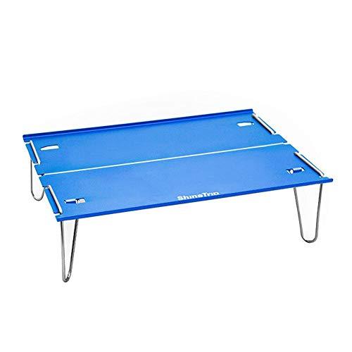 Draulic Camping Tisch Tragbarer Wandertisch mit Aluminium-Tischplatte Leichter Mini-Schreibtisch für Trekking-Rucksacktouren im Freien