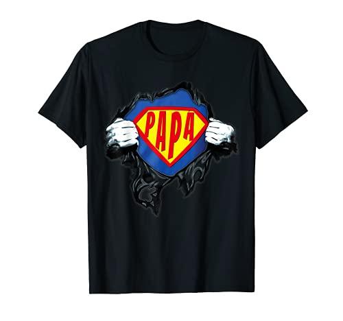 Hombre Papá, Mi Súper Héroe, Día de la Padre para Papá regalo Camiseta