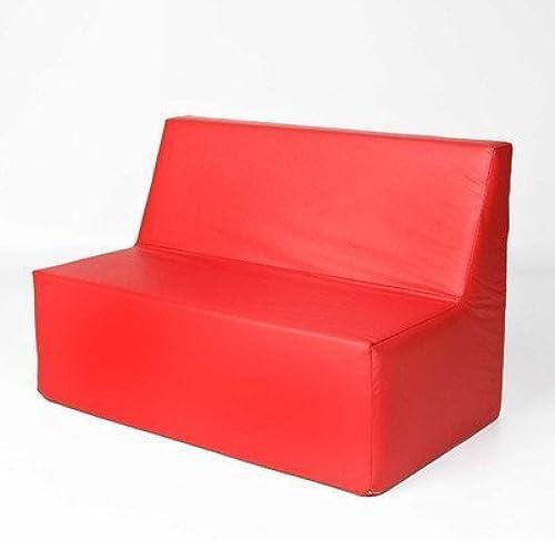 marca Foamnasium Straight Back Back Back Sofa, rojo by Foamnasium  soporte minorista mayorista