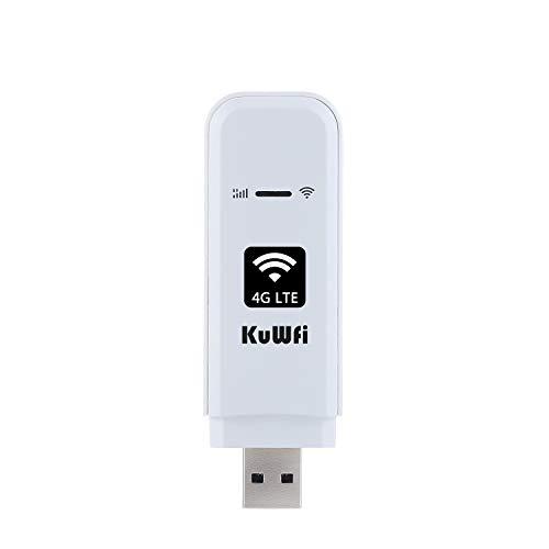 KuWFi Mobile Wi-Fi Dongle, 150 Mbit/s USB Dongle 4G Unlocked WiFi/WLAN LTE...