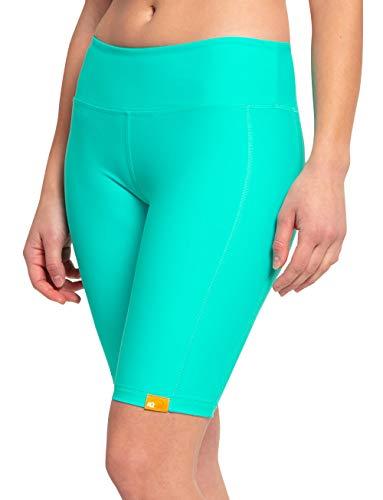 iQ-UV Damen hoher Bund Yoga Shorts, Carib, L
