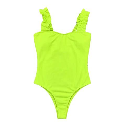 MINIKIMI badpak dames buikweg push up met kant overall figuurvormend eendelige badmode eenkleurig zwempak backckenfrei sexy monokini voor de zomer