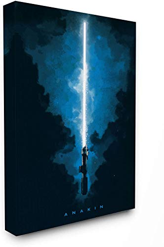 Star Wars Lightsaber Artwork Painting 12' x 16' Stretched Canvas Wooden Framed Anakin Wall Art Poster Prints Wall Decor for Bathroom, Stretched and Ready to Hang