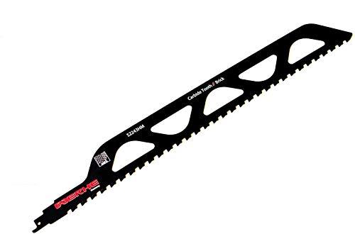 WERHE  Profesional - 1 x Hoja sierra sable piedra - 455 mm S2243HM Hoja sierra cola zorro más fuerte - Para cortar pared ladrillo, hormigón gas, madera - Compatible con Dewalt, Bosch rompecabezas
