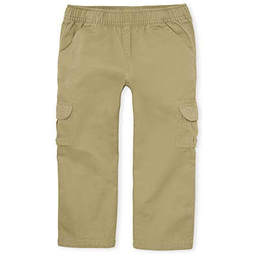 The Children's Place boys Pull On Cargo Pants, Flax, 6