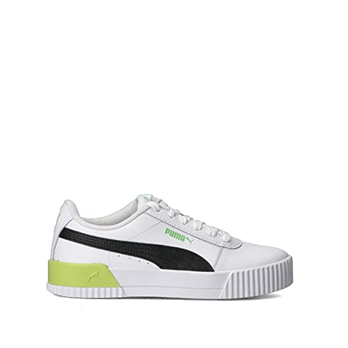Puma Carina L, Zapatillas Deportivas Mujer, White/Green, 41 EU