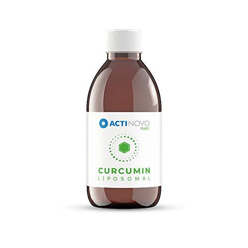 Curcumin | 25 Tagesdosen à 200 mg Curcuminoiden | Vegan | 250 ml | Hochdosiert & laborgeprüft | Kurkuma | Wirksamer als Kapseln & Pulver | Liposomal | Glutenfrei | Made in Germany