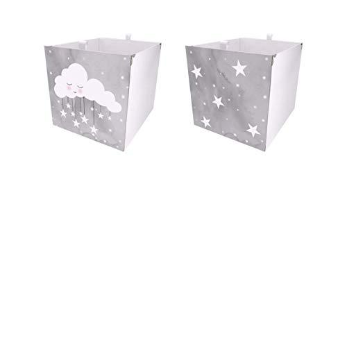 Debe Kallax - Juego de cajas de almacenamiento para habitación infantil, diseño de doble cara, 33 x 33 x 38 cm, plegable, juego de 2 cajas Kallax, juego de 4 cajas Kallax
