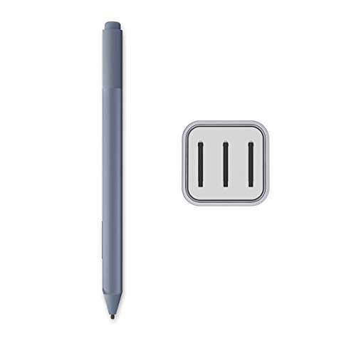 Microsoft Surface Pen Ice Blue for Surface Pro 7 Pro 6 Surface Laptop 3 Surface Book 2 Laptop 2 Surface Go Studio 2 4096 Pressure Points Rubber Eraser Bluetooth 4.0 w/3 Extra Surface Pen Tips HB
