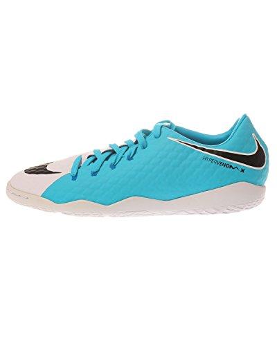 Nike Herren Hypervenomx Phelon III IC Fußballschuhe, Mehrfarbig (White/Black-Photo Blue-Chlorine Blue), 45 EU