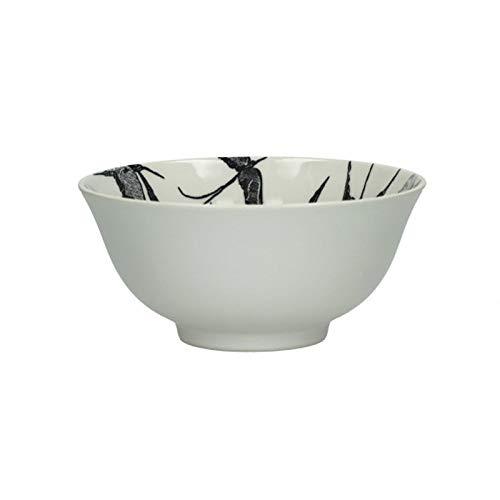 Pomax Envol - Cuenco (porcelana, 12 x 6 cm), color blanco