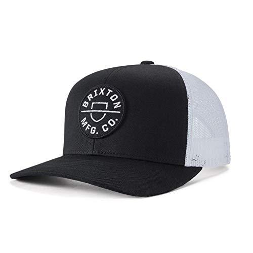 BRIXTON Unisex_Adult Crest MP MESH Cap, Black, One Siz