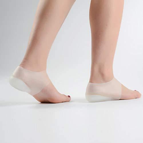 Crazywind Höhe Steigerung Einlegesohle Unsichtbare Höhe Lift Absatz Pad Socke Lidstift Steigerung Einlegesohle Schmerzen Linderung für Damen Herren - Weiß, 4CM