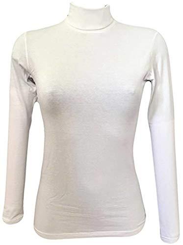 JADEA Dolcevita Donna Cotone Elasticizzato Art.4267 (XS/S, Bianco)