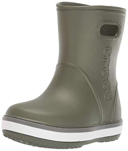 Crocs Crocband Rain Boot Kids, Unisex-Kinder Gummistiefel, Grün (Army Green/Slate Grey 3tf), 29/30 EU (Herstellergröße: 12)