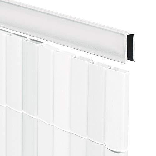 Videx-U-Profil für Sichtschutzmatte Rügen, weiß, 150cm (Lieferung: 2 x 75cm)