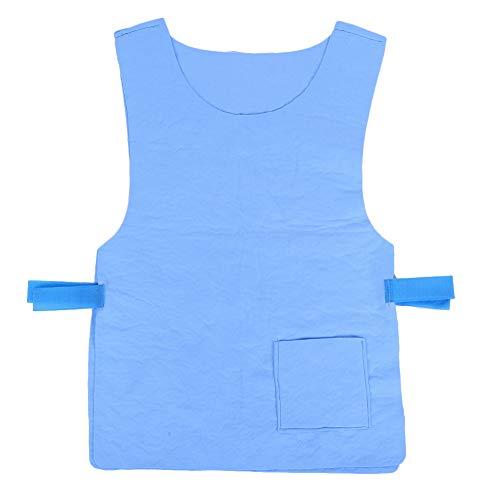 Weikeya Chaleco de enfriamiento de Moda, diseños de Cuello Tap Agua Dentro de 5 Horas de Uso Diario Uso Recomendado Tiempo Vestido de enfriamiento evaporativo PVA Hecho (Azul)