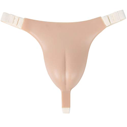 IVITA Silikon Höschen Herren Camel Toe Panty Crossdresser Panty Silikon Tanga Man Transgender, Weiß, 23.5x33 cm
