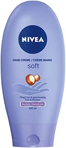 Nivea Soft Care Hand Creme, 1er Pack (1 x 100 ml), spendet Feuchtigkeit und zieht schnell ein, mit Shea-Butter