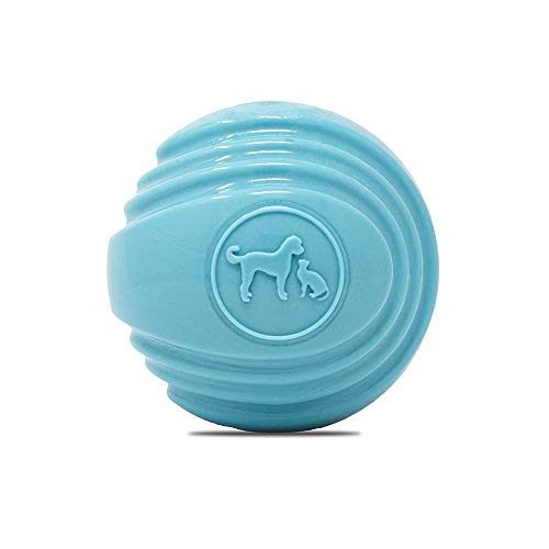 Rocco & Roxie Dog Toys Balls - Tough Nearly Indestructible Toy for All But the Most Aggressive Chewers - 2 Ball Sizes for Large and Small Dogs - Made in USA (Powder Blue 4 inch ball)