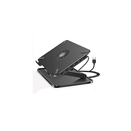 YUZZZKUNHCZ BJBZJ - Soporte de refrigeración para portátil (4 USB de expansión + ventilador, compatible con portátiles de menos de 17 pulgadas, buen efecto de disipación de calor)