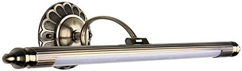 Lámpara de pared LED para baño,lámpara de maquillaje ajustable,lámpara de espejo impermeable Lámpara de baño impermeable para dormitorio con gabinete con espejo,luz neutra,aleación de zinc acríli