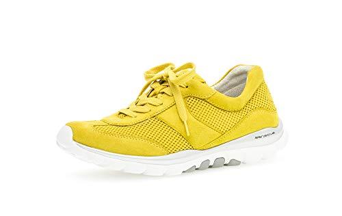 Gabor Damen Sneaker, Frauen Low-Top Sneaker,Übergrößen,Optifit- Wechselfußbett, feminin elegant Women's Woman Freizeit leger,Sole,40 EU / 6.5 UK