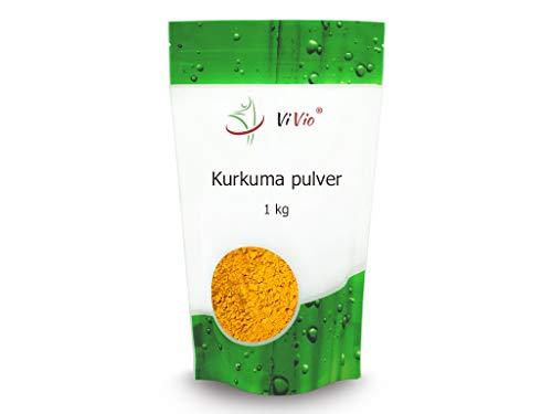 Gehacktes Kurkuma - 1kg - Vegan - Kurkuma Pulver - Turmeric - Rohkost - aus Indien - für Smoothies, Goldene Milch, Pasten, Kurkuma Latte u.v.m - Premium Qualität - Curcumin Gewürz - Gelbwurz
