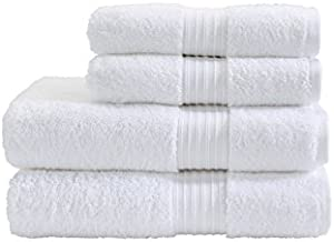 Fresh From Loom Cotton Bath Towel, White, 27 x 54 inch -Pack of 2 Piece