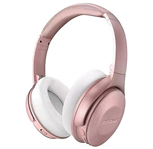 Mpow H17 Auriculares inalámbricos Bluetooth, Dispositivo de cancelación Activa de Ruido,30H de reproducción, Carga rápida- Pink