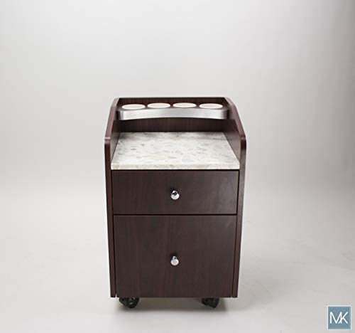 Pedicure trolley cart, pedicure cart, pedicure cart with footrest