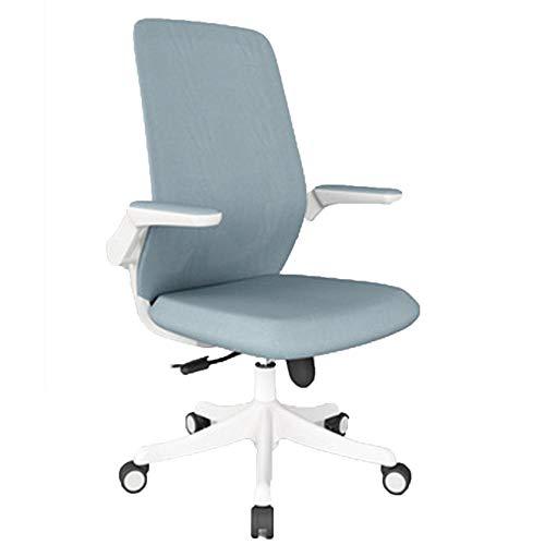 MION Sedia da ufficio, Sedia da scrivania, ergonomica Sedia Girevole con braccioli Pieghevoli Sedia per Computer in Rete Sedia da Lavoro Leggera